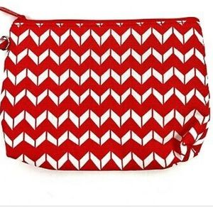 Mini Zipper Pouch-Chevron Dash